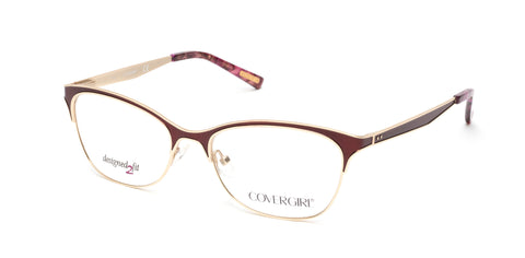 Cover Girl - CG0542 Matte Bordeaux Eyeglasses / Demo Lenses