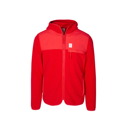 Topo Designs - Fleece Red Hoodie