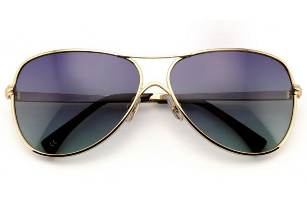 Wildfox - Airfox Gold Sunglasses, Gradient Lenses