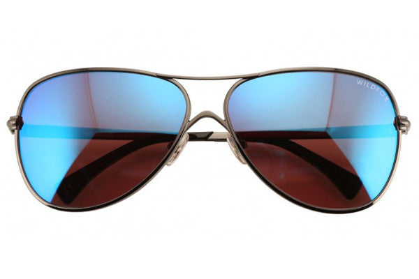 Wildfox - Airfox Deluxe Gunmetal & Blue Sunglasses