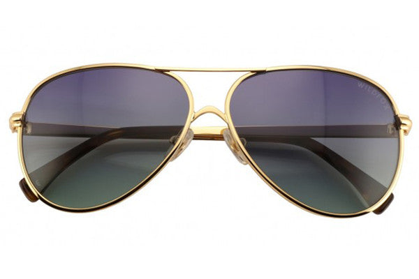 Wildfox - Airfox 2 Gold Sunglasses, Gradient Lenses