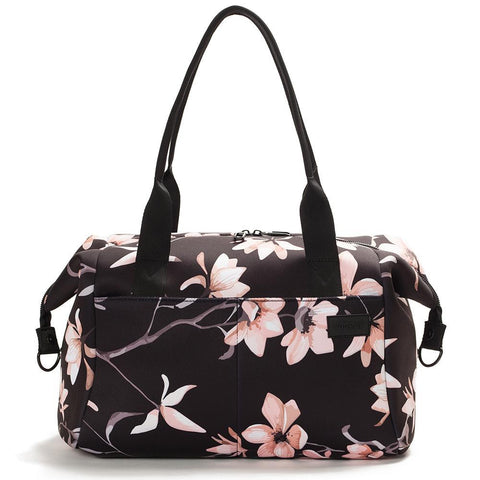 Vooray - Alana Neoprene Black Cherry Blossom Duffel Bag