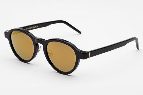 Super - Versilia Black 24K Sunglasses