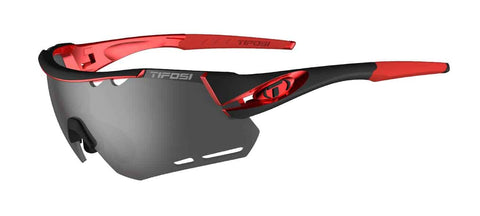 Tifosi - Alliant Black Red Sunglasses / Smoke + AC Red + Clear Lenses
