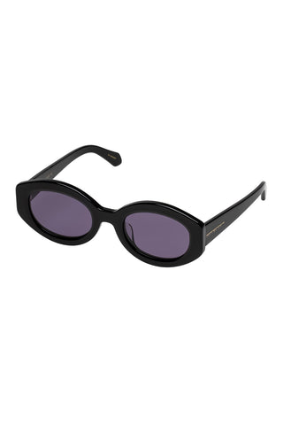 Karen Walker - Bishop Alternate Fit Black Sunglasses / Smoke Mono Lenses