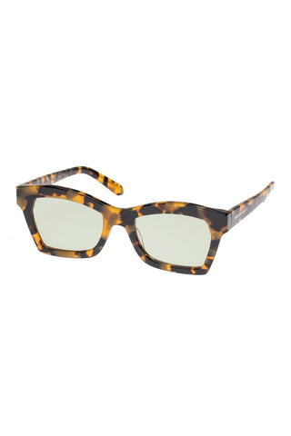 Karen Walker - Blessed Alternate Fit Crazy Tortoise Sunglasses / Sage Lenses
