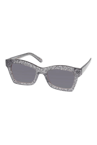 Karen Walker - Blessed Alternate Fit Galaxy Glitter Sunglasses / Smoke Gradient Lenses