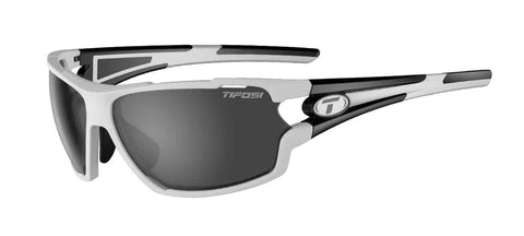 Tifosi - Amok White + Black Sunglasses / Smoke + AC Red + Clear Lenses