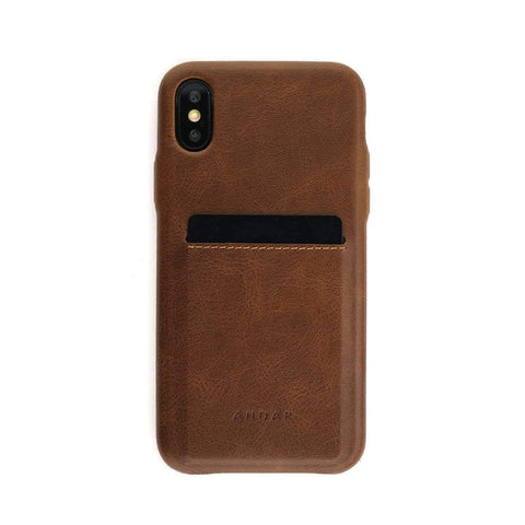 Andar - The Fitz iPhone X Brown Phone Case