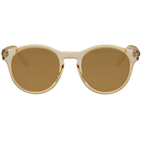 Le Specs - Hey Macarena Blonde Sunglasses / Brown Mono Polarized Lenses
