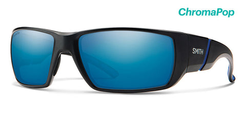 Smith - Transfer Matte Black Sunglasses / ChromaPop Polarized Blue Mirror Lenses