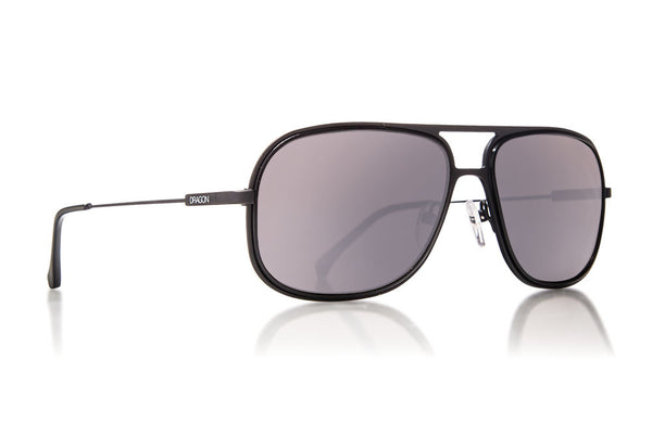 Dragon - B-Class Matte Black / Silver Ion Sunglasses