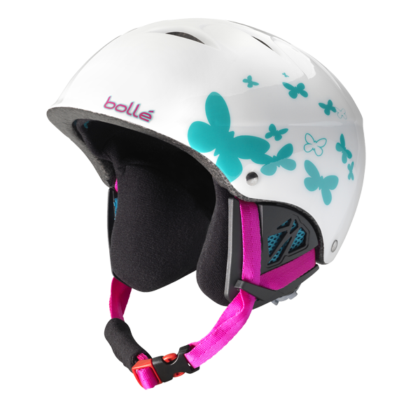Bolle - B-Kid Shiny White Butterfly Ski Helmet