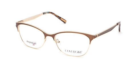 Cover Girl - CG0542 Matte Dark Brown Eyeglasses / Demo Lenses