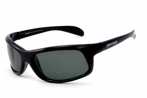 Peppers - Strike Shiny Black Sunglasses / Polarized Flash Mirror Lenses