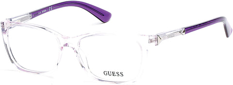 Guess - GU2561 53mm Shiny Lilac Eyeglasses / Demo Lenses