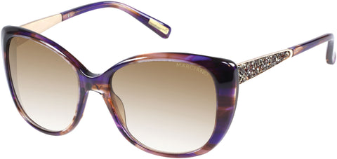 Marciano - GM0722 Colored Tortoise Sunglasses / Gradient Brown Lenses