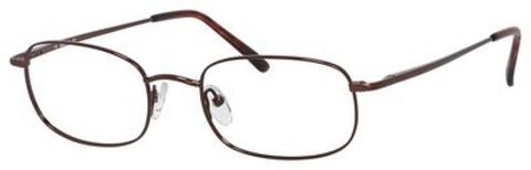 Denim Eyewear - 104 55mm Brown Eyeglasses / Demo Lenses