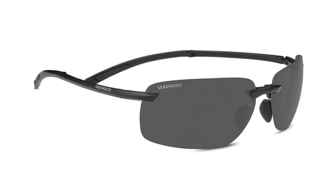 Serengeti - Vernazza Matte Black Sunglasses / PhD 2.0 Polarized CPG Grey Lenses
