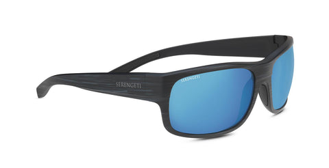 Serengeti - Bergamo Matte Stripped Gray Sunglasses / PhD 2.0 Polarized 555nm Blue Lenses