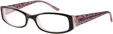 Candie's - CAA260 Black + Pink Eyeglasses / Demo Lenses