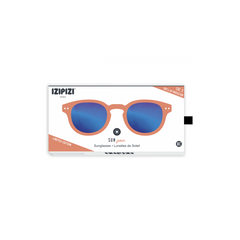 Izipizi - #C Saffron Orange Junior Sunglasses / Blue Mirror Lenses