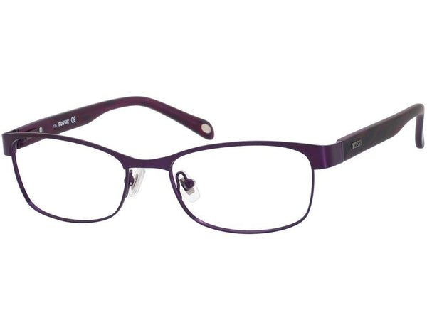 Fossil - Libby  Semi Purple  Eyeglasses / Demo  Lenses