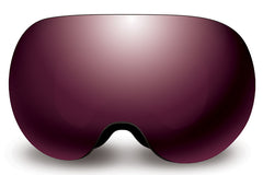 Native - Backbowl Black Rip Goggles, Silver Mirror Lenses