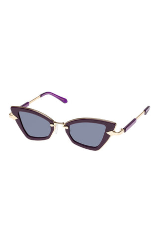 Karen Walker - Bad Apple Ultra Violet Sunglasses / Blue Mono Lenses