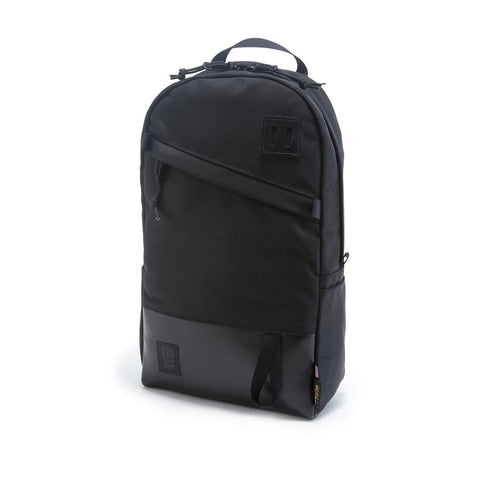 Topo Designs - Ballistic Black Black Leather Unisex Backpack