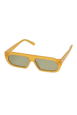 Karen Walker - Baldwin Frosted Amber Sunglasses / Slate Mono Lenses