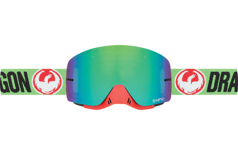 Dragon - NFXs Flash Green MX Goggles / Green Ion + Clear Lenses