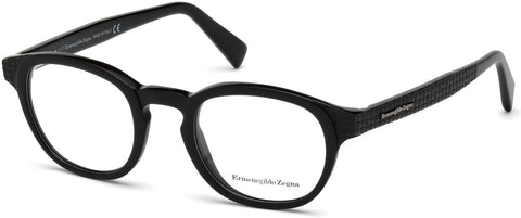 Ermenegildo Zegna - EZ5108 Shiny Black Eyeglasses / Demo Lenses