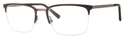 Adensco - Ad 118 51mm Matte Brown Eyeglasses / Demo Lenses