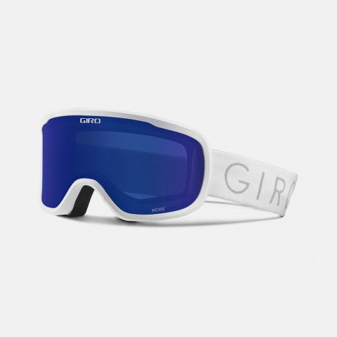 Giro - Moxie Asian Fit White Core Light Snow Goggles / Grey Cobalt + Yellow Lenses
