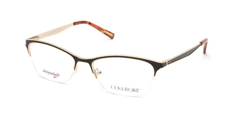Cover Girl - CG0543 Matte Black Eyeglasses / Demo Lenses