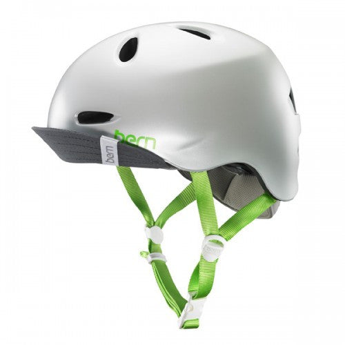 Bern - Berkeley Satin Delphin Grey With Flip Visor Bike Helmet