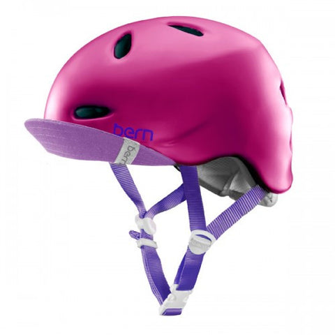 Bern - Berkeley Matte Fuchsia With Flip Visor Bike Helmet
