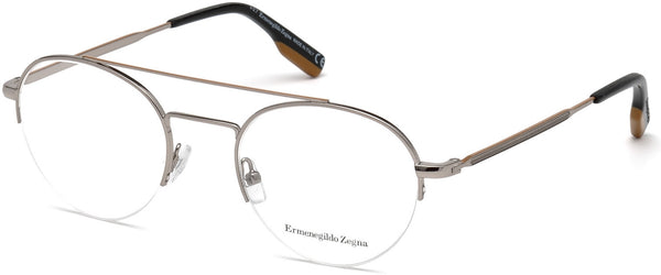 Ermenegildo Zegna - EZ5131 Shiny Light Ruthenium Eyeglasses / Demo Lenses