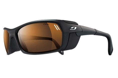Julbo - Bivouak Matte Black Sunglasses, Camel Lenses