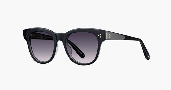 Garrett Leight - Ulla Johnson Phaedra Sunglasses / Semi Flat Purple Gradient Lenses