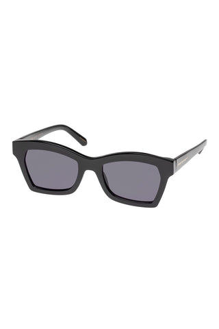 Karen Walker - Blessed Regular Fit Black Sunglasses / Smoke Mono Lenses