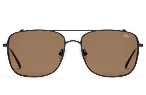 Quay Weekend Warrior Black / Brown Sunglasses