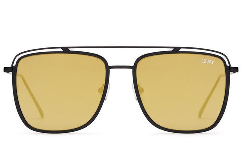 Quay Mr Black Black / Gold Sunglasses