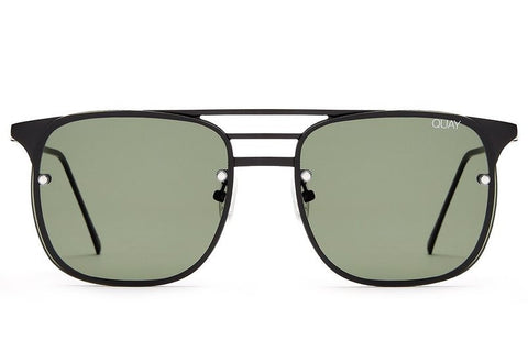 Quay Hendrix Black / Green Sunglasses