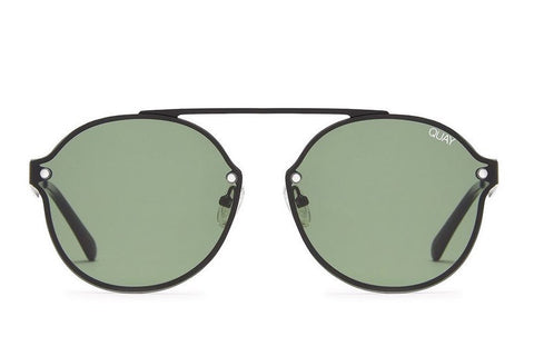 Quay Camden Heights Black / Green Sunglasses
