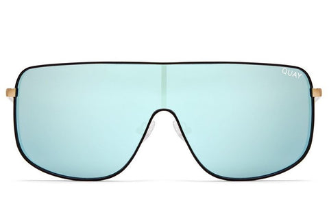 6a76e1efff Quay  QUAYXKYLIE Unbothered Black   Mint Sunglasses