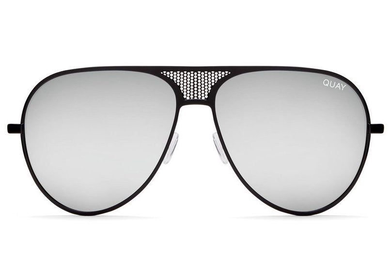 72ae535ead Quay  QUAYXKYLIE Iconic Black   Silver Sunglasses – New York Glass