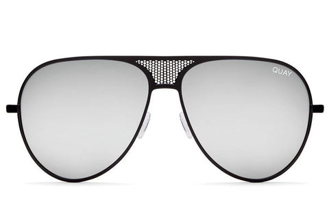 Quay x Kylie Jenner Iconic Black / Silver Sunglasses