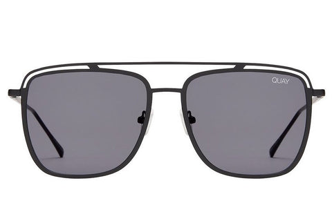 Quay Mr Black Black / Smoke Sunglasses